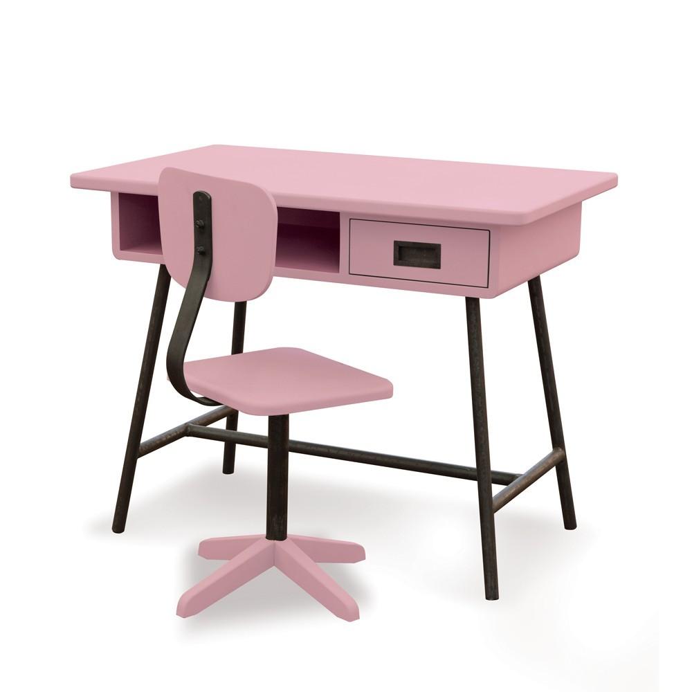 Bureau La Classe Et Chaise Datelier Vieux Rose Laurette