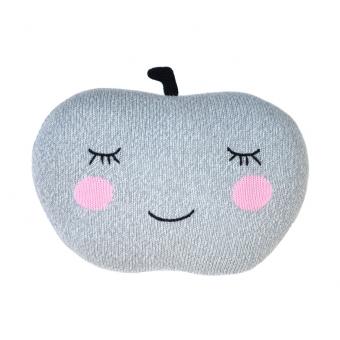 Coussin Pomme Gris Blabla Kids Pour Chambre Enfant Les