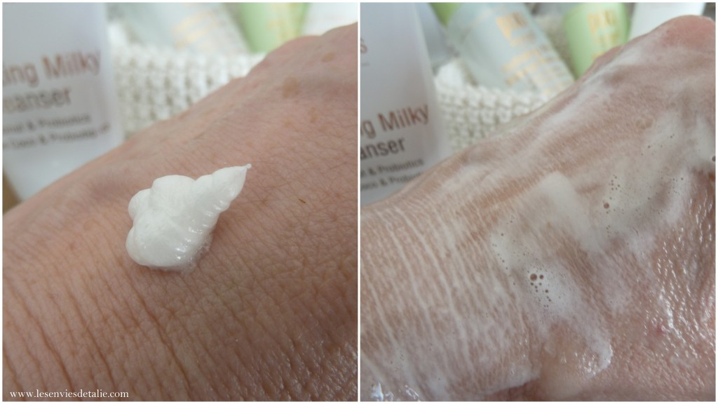 Texture du nettoyant Hydrating Milky cleanser