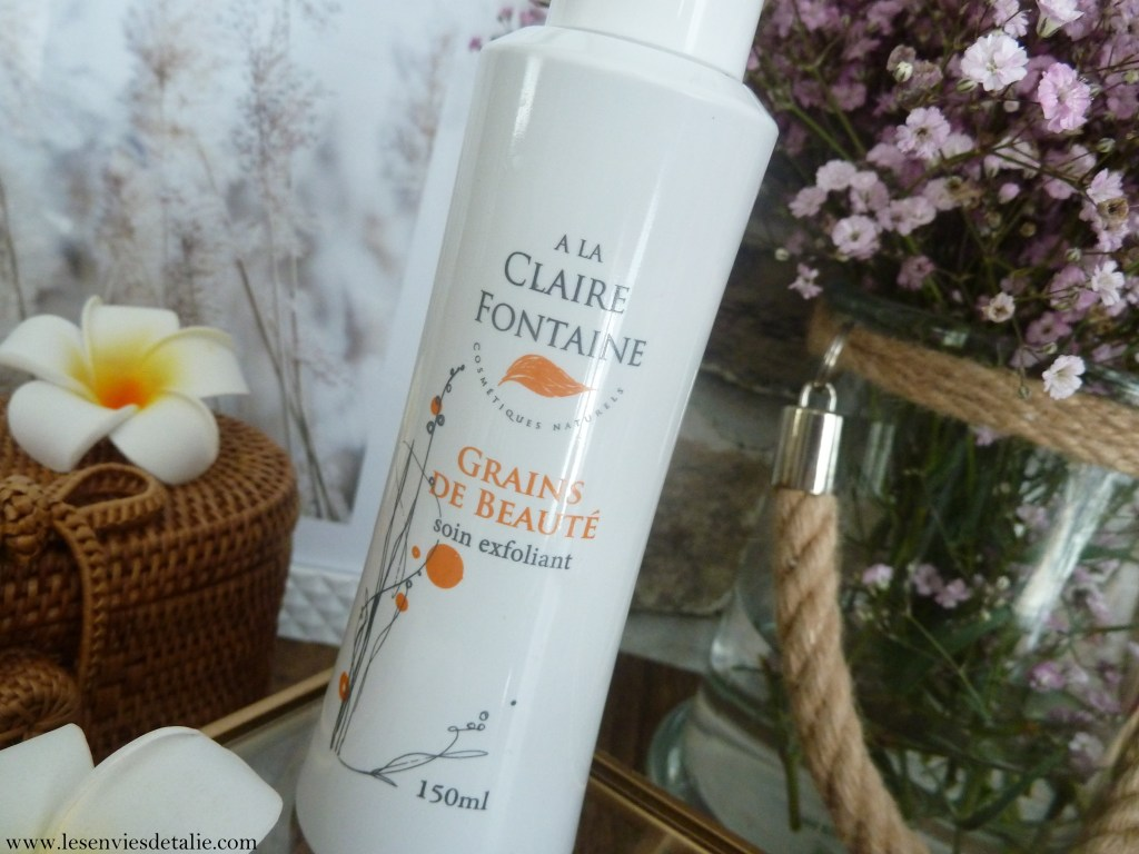 Packaging de Grains de beauté - soin exfoliant A la claire fontaine
