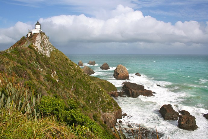 Leuchtturm am Nugget Point, Südinsel Neuseeland