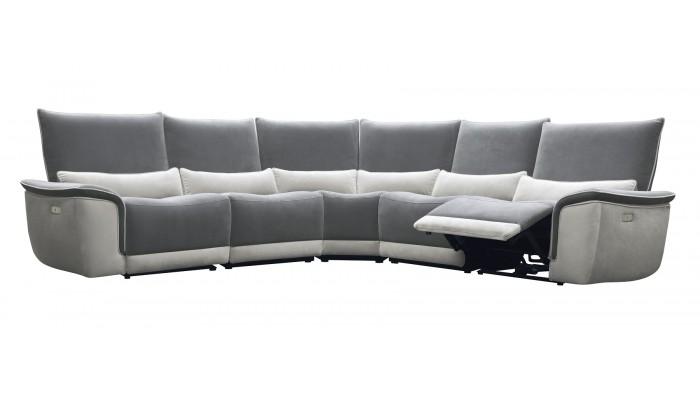 canape d angle en tissu avec 2 relax
