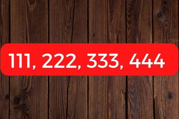 Que signifie voir le 111, 222, 333, 444 ?