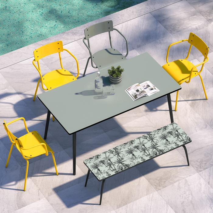 table de jardin design vera 160 x 90 i designed by les gambettes