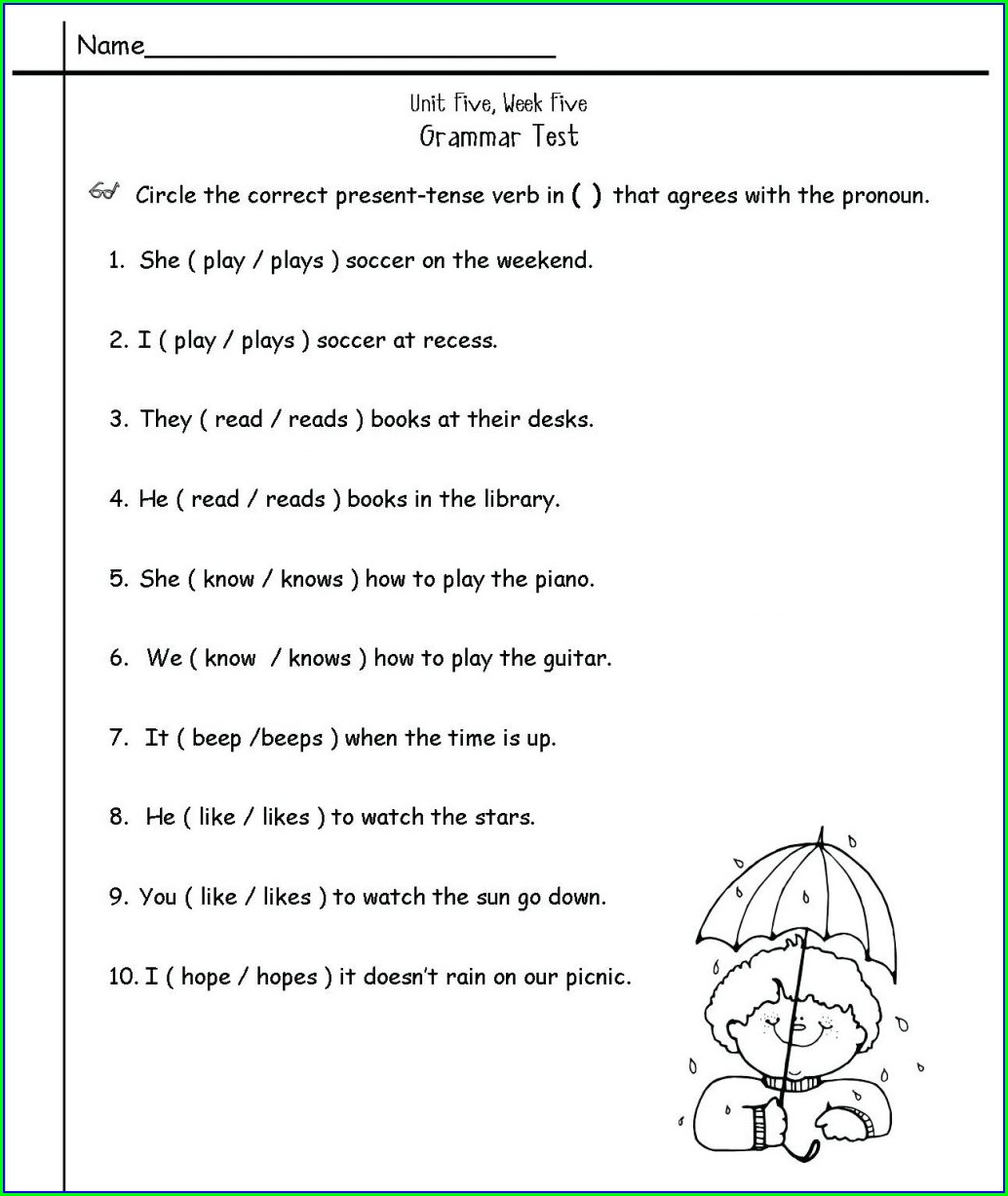 2nd Grade K5 Learning English Worksheets