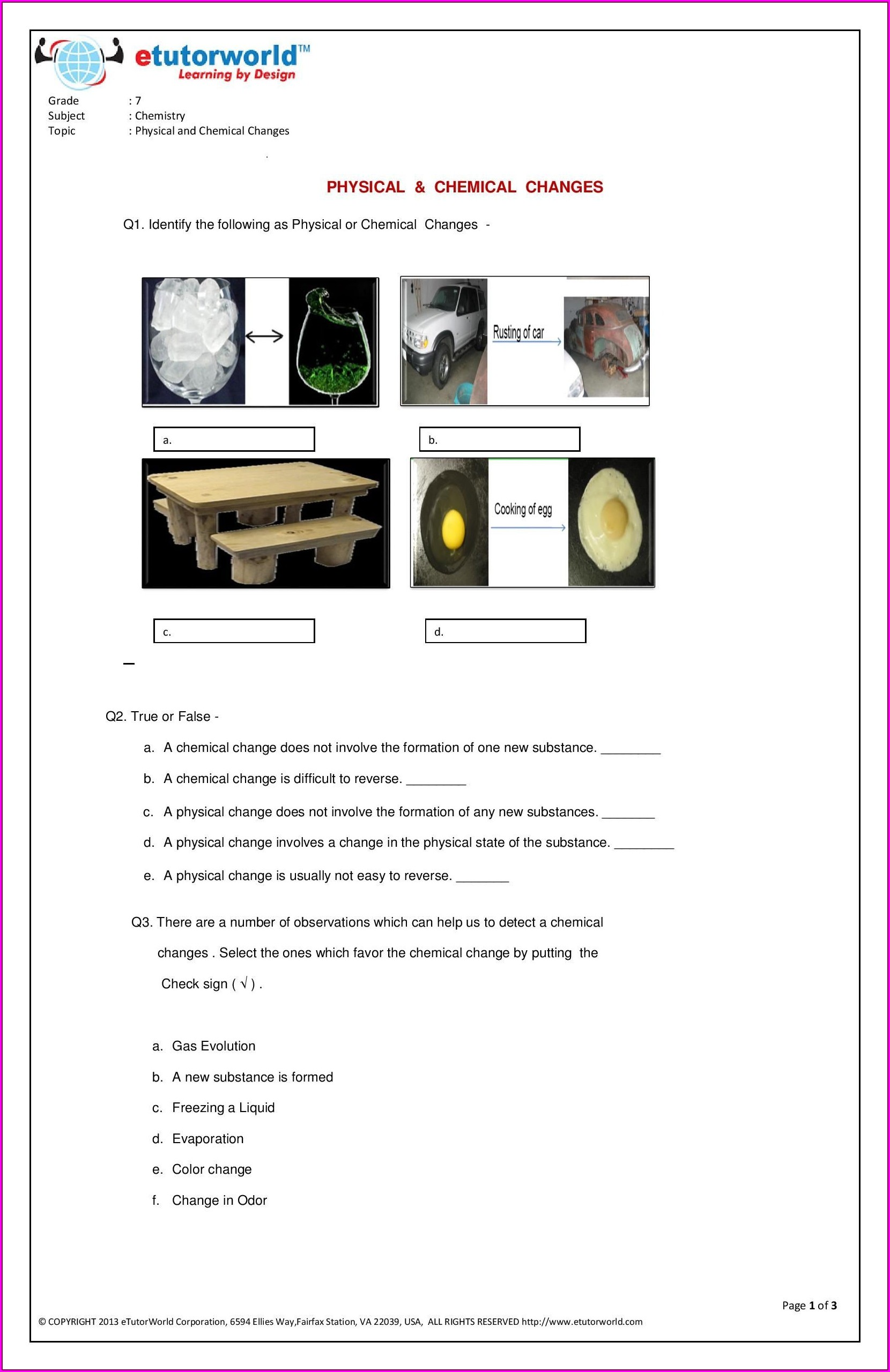 Grade 4 Science Sound Worksheets