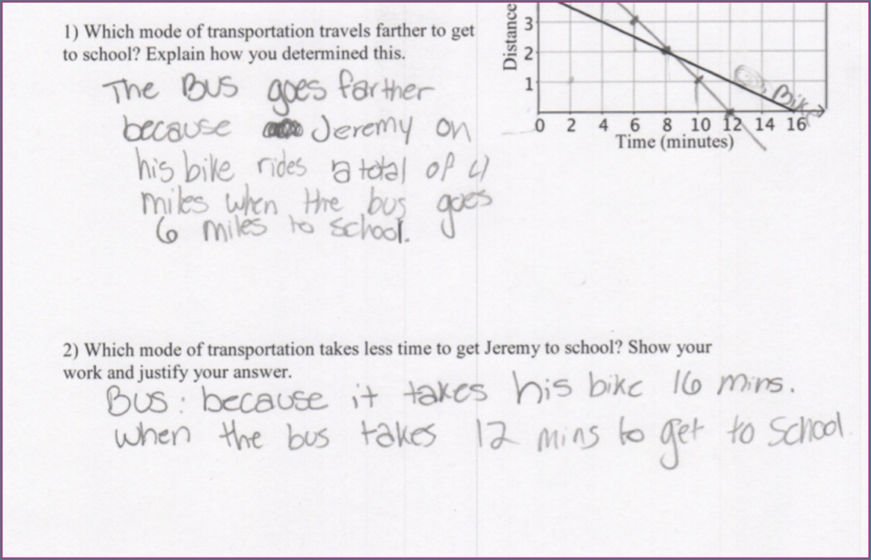 Comparing Linear Functions Worksheet 8th Grade