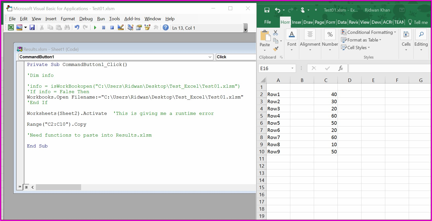 Excel Vba Worksheet Change Event Intersect