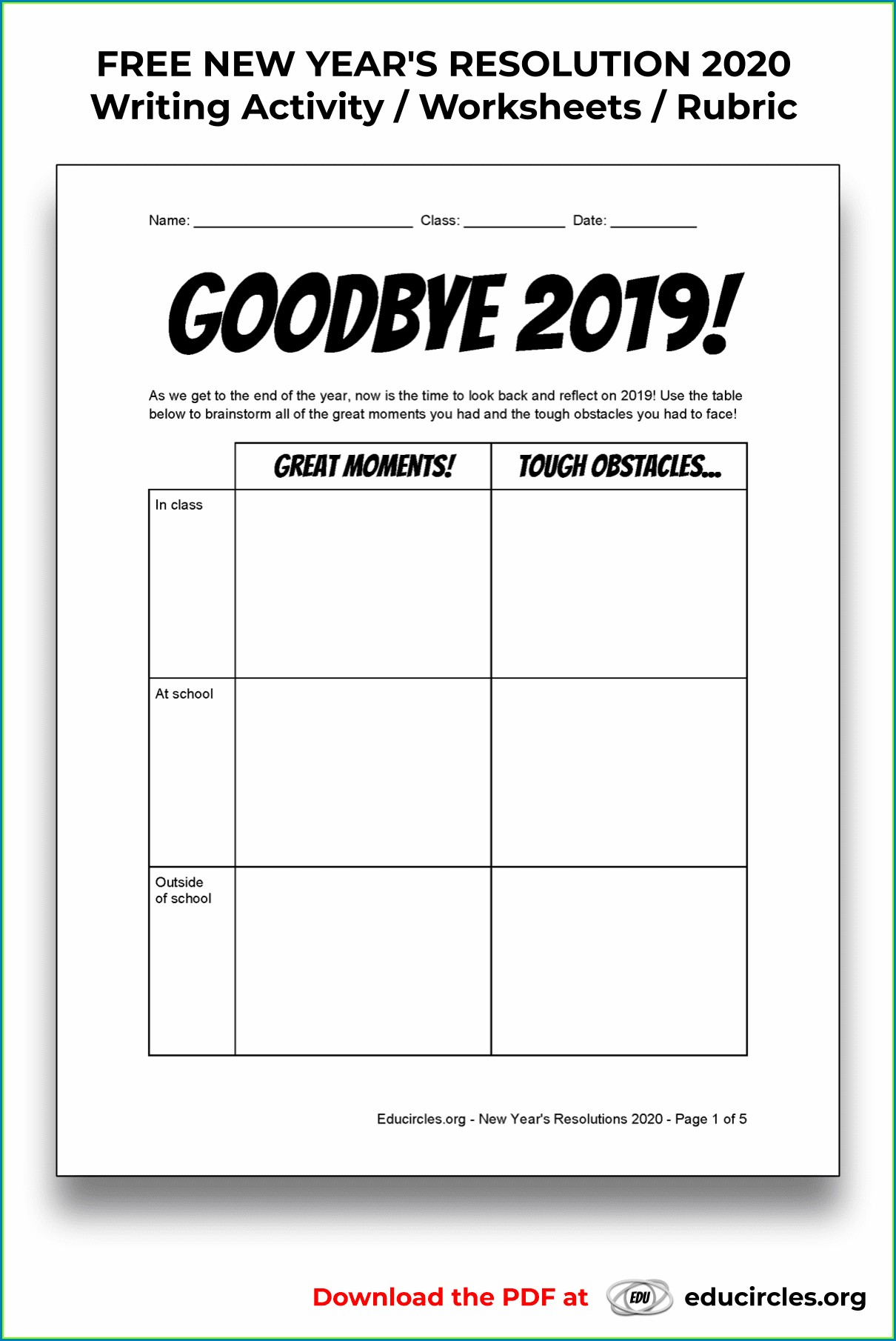 Academic Goal Setting Worksheet High School