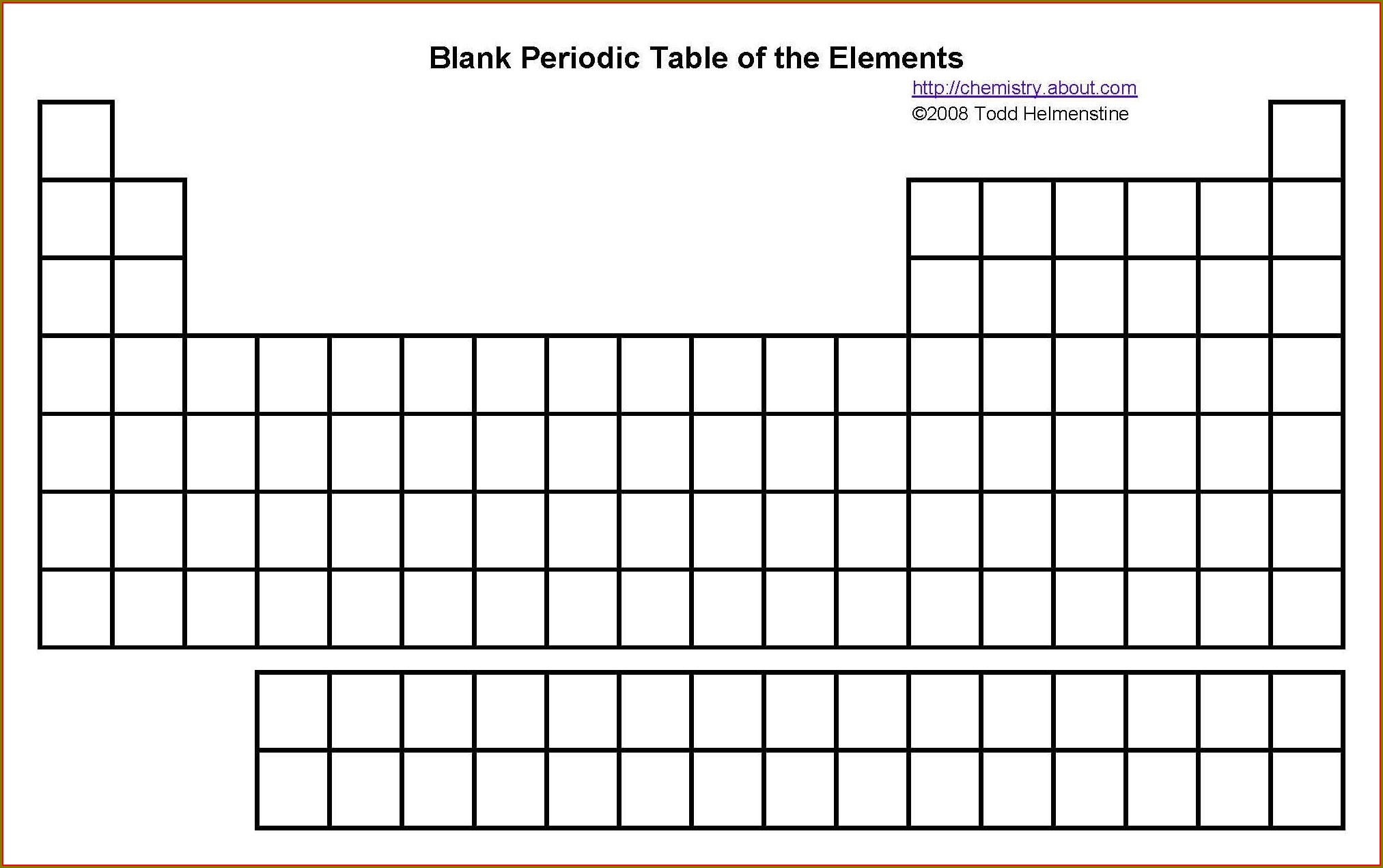 Periodic Table Worksheets For High School