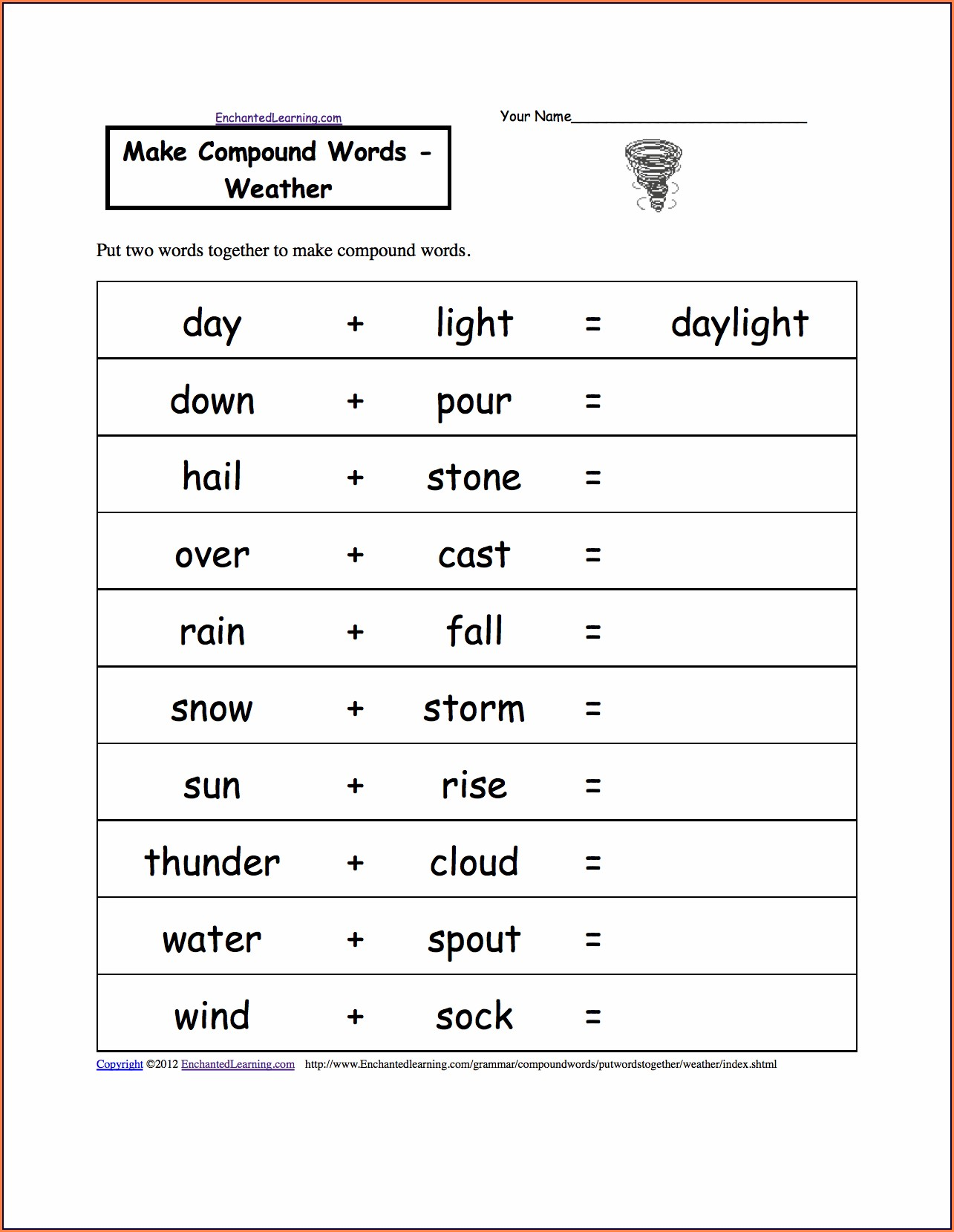Science Weather Worksheet Grade 1