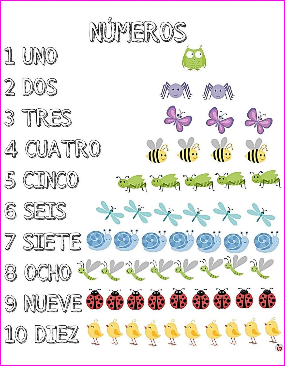 Free Printable Spanish Numbers Worksheet
