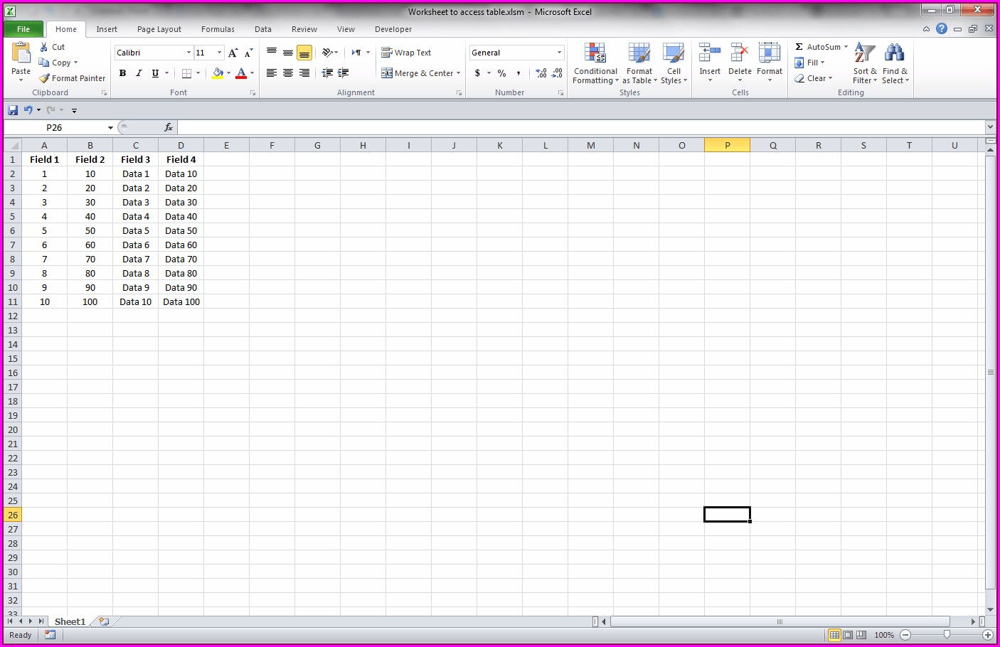 Excel Vba Worksheet Examples
