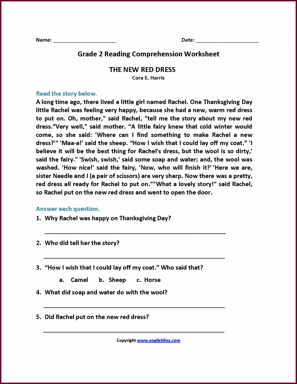 Writing Wh Questions Worksheet