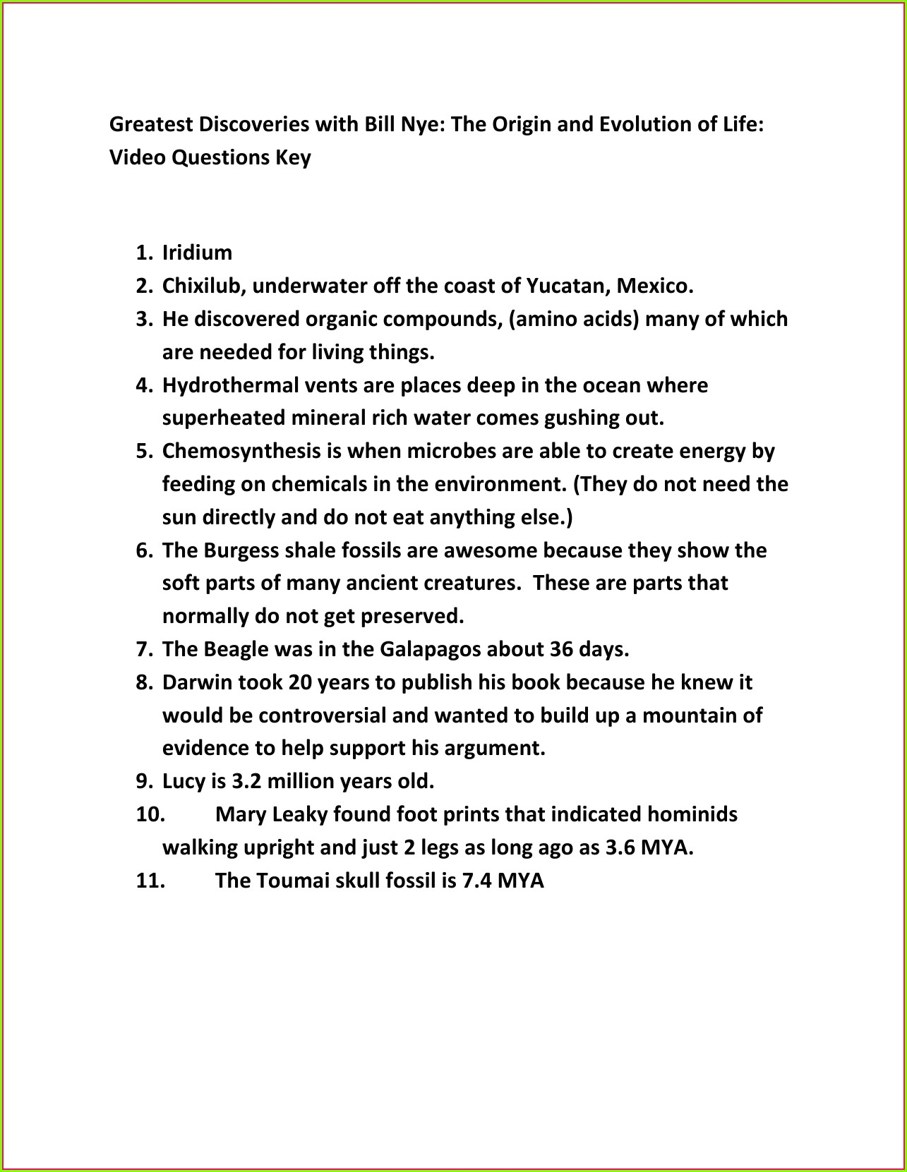 Bill Nye Plate Tectonics Video Worksheet