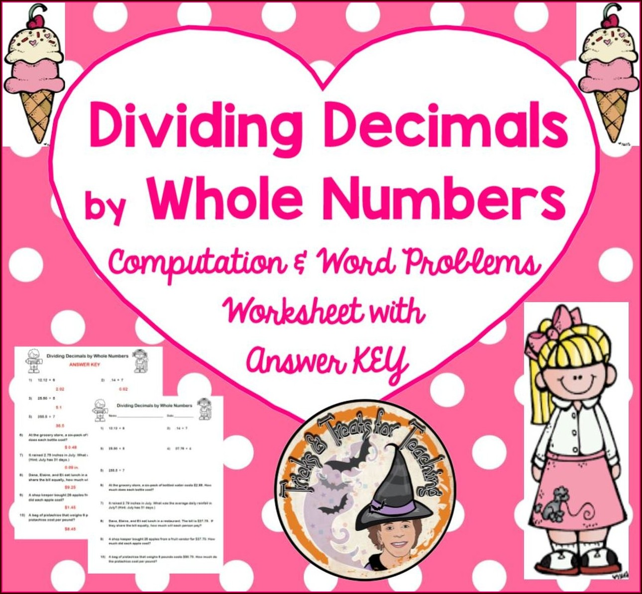 Dividing Decimals By Whole Numbers Worksheet Answer Key