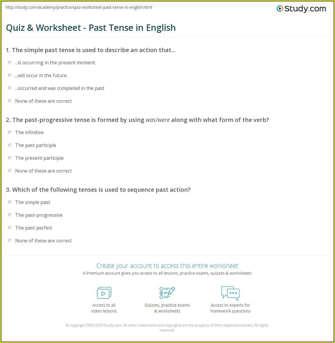 3rd Grade Past Tense Verbs Worksheets