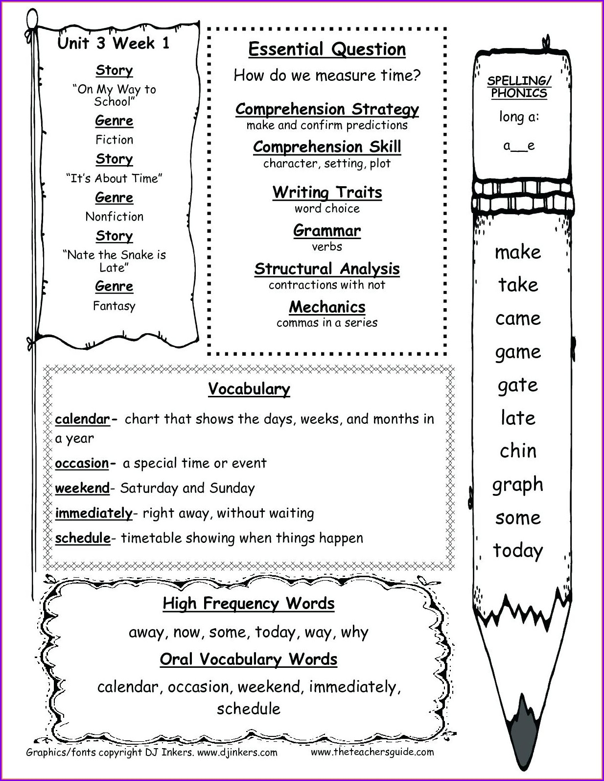 Math Vocabulary Worksheet Grade 4
