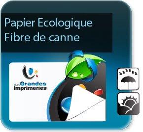 Étiquette autocollante écologie et recyclée