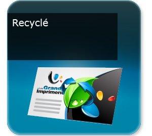 Carte de fidélité écologique et recyclée
