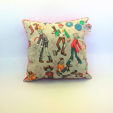 Coussin zombies multicolores