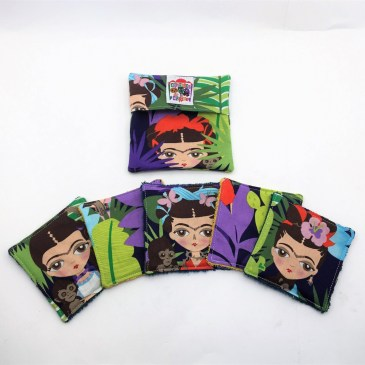 Lingette lavable Frida Kahlo multi