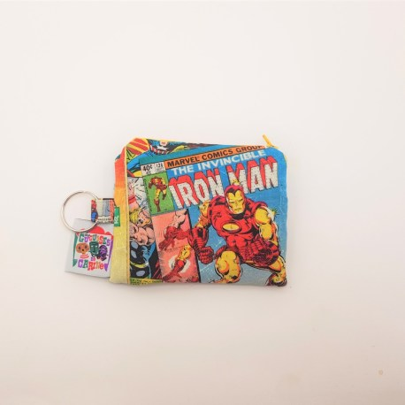 Porte monnaie double zip Marvel superhéros 2
