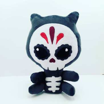 Peluche Chat Squelette gris