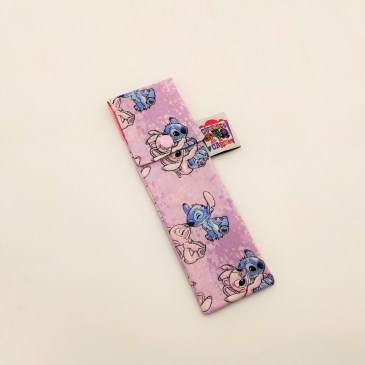 Pochette brosse à dents Stitch fond rose