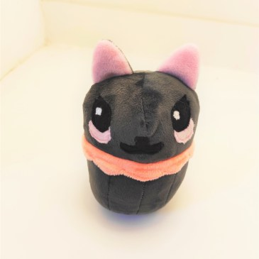 Peluche chat gris cupcake