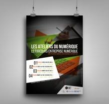 Affiche ateliers du numérique