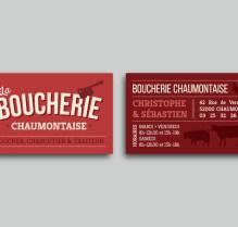 Cartes de Visite / La Boucherie Chaumontaise / Les Hameçons Cibles