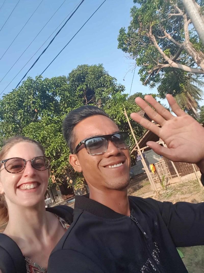 Les Heureux Voyageurs en route pour l'aéroport de Karimunjawa, Indonésie