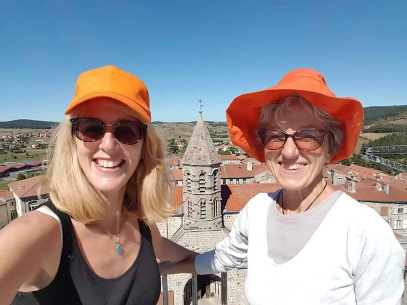 Chemin de Compostelle, au sommet de la Tour des Anglais de Saugues 🏰 18