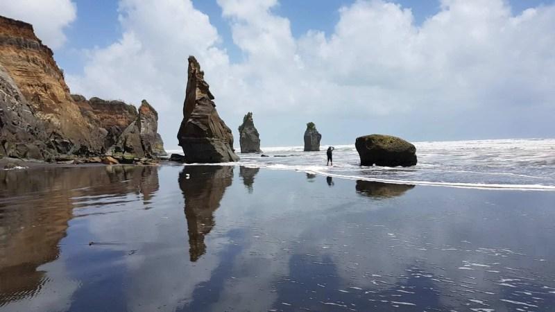 Nouvelle-Zélande, les Three Sisters et l'Elephant Rock plantés au beau milieu de la mer 🐘 13