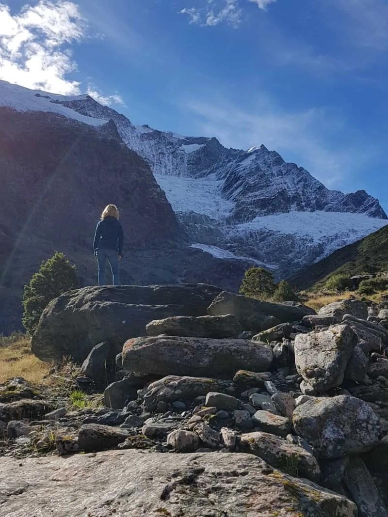 Nouvelle-Zélande, randonnée vers le Rob Roy Glacier et son sommet enneigé ❄ 17