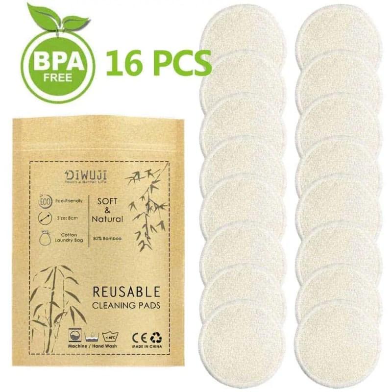 Cotons démaquillants lavables en bambou bio,