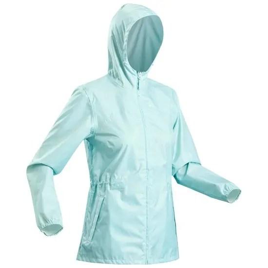 Decathlon Coupe+pluie+de+randonn+e+nature+NH100+Raincut+Full+Zip+Femme