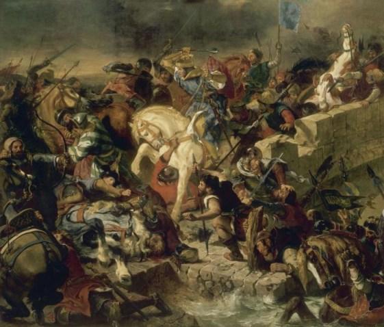La Bataille de Taillebourg, 21 juillet 1242, tableau d'Eugène Delacroix (1837).