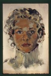 Heather, oil on paper, 2003