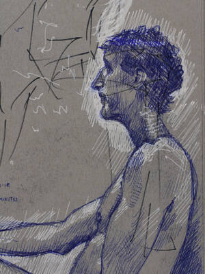 40 minute sketch w/ ballpoint pens