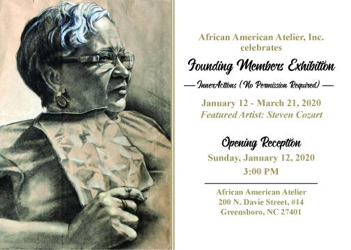 African American Atelier's exhibition flyer