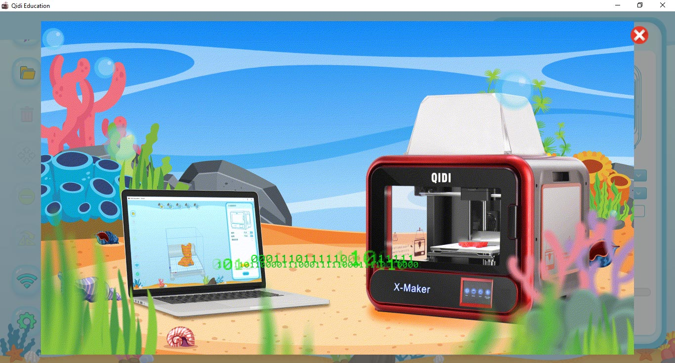logiciel Qidi Education software 3D print