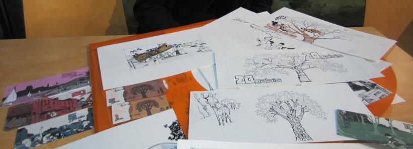 La genèse des billets : les dessins de Luis Liberti.