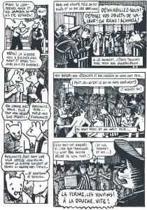 Planche de la bande dessinée Maus de Art Spiegelman