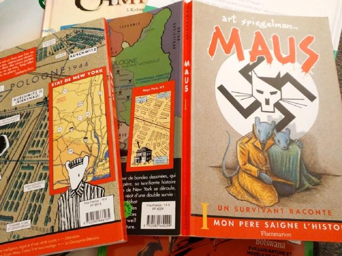 Couvertures des bandes dessinées Maus de Art Spiegelman