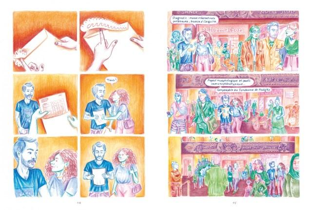 Pages 14 et 15 de l'album De l'importance du poil de nez  de Noémie