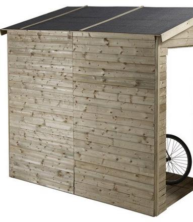 comment construire un abri a velo en bois
