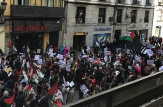 Au nom du polisario, des espagnols manifestentà Madrid