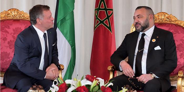Abdallah II reçoit les condoléances du roi Mohammed VI